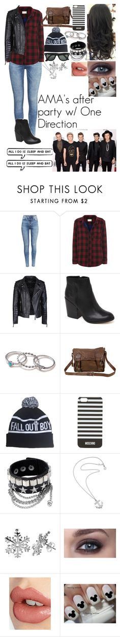 """""""AMA's After Party w/ One Direction"""" by kitkatthegreat ❤ liked on Polyvore featuring H&M, rag & bone, Dolce Vita, With Love From CA, VIPARO, Moschino, Ray-Ban, Karen Walker and Charlotte Tilbury"""