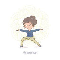 Yoga Illustration, Warrior 2, Asana, Yoga Poses, Disney Characters, Fictional Characters, Mandala, Graphics, Illustrations
