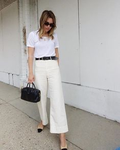 """reputable site da8ad 879c8  apieceapart on Instagram  """"Summer whites by  meghannstephenson, pictured  above in our bestselling Classic Merida pant. Link in…"""""""