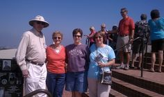 Guests posing for a picture with Bill, a docent at Mt. Soledad who was in the movie with Cliff Robertson. Cliff Robertson, La Jolla, San Diego, Tours, Movies, Pictures, Films, Photos, Photo Illustration