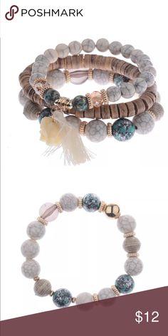 Bohemian 3 piece bracelet set 3 piece bracelet with tassel and lucky elephant Jewelry Bracelets