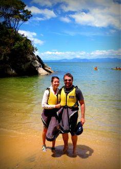 Kayaking in the Abel Tasman National Park...a must do. Gorgeous!