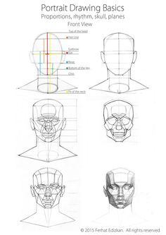 Portrait Drawing Tips For Beginners - - Male Figure Drawing, Figure Drawing Reference, Drawing Practice, Anatomy Reference, Drawing Skills, Portrait Drawing Tips, Portrait Sketches, 3d Drawing Techniques, Drawing Tutorials