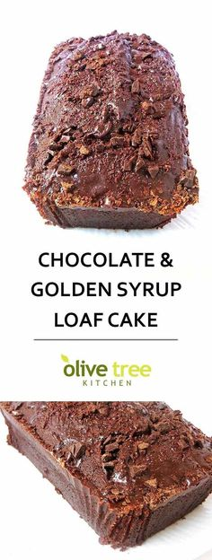 Chocolate and Golden Syrup Loaf Cake - a rich, indulgent dessert guaranteed to solve ALL your chocolate cravings! Perfect for a Valentine's Day treat!