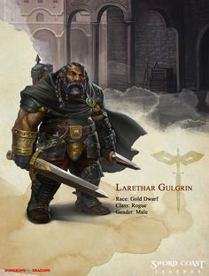 Companion Bio: Larethar Gulgrin   Sword Coast Legends