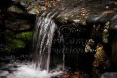 Nature Photography Small Waterfall  13x19 by BurrCampCreations, $35.00