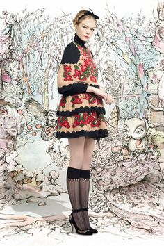 NANCY ♡ GIRL: ♥ RED VALENTINO FALL 2013 ♥ HANSEL & GRETEL GINGERBREAD DRESSES ♥