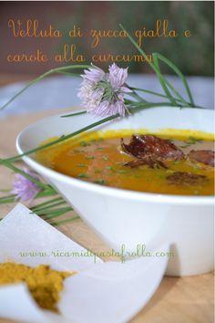 Vellutata di carote alla curcuma con scalogni al curry