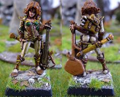 Astrid, female elf bard #rpg #D #pathfinder #miniatures #wargames From http://frikidiario.blogspot.com.es