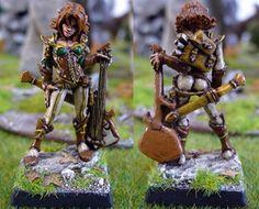 Astrid, female elf bard #rpg #D #pathfinder #miniatures #wargames From http://frikidiario.blogspot.com.es