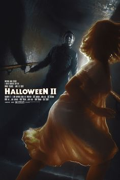 'Halloween II' (Regular Edition) print by Matthew Peak for Bottleneck Gallery at New York Comic Con 2018 Halloween Horror Movies, Scary Movies, Horror Icons, Horror Movie Posters, Horror Art, Michael Myers, Best Movie Posters, Film Posters, Slasher Movies
