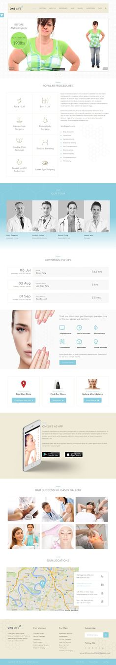 One Life is a versatile WordPress theme for the #Cosmetic Medical Center, Plastic Surgeons, Hospitals, Beauty #Clinics, Health Care Companies, Pharmaceuticals and all #medical related business website. Download Now!