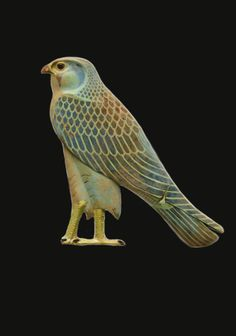 Inlay in the form of the Horus falcon ~Late Period–Ptolemaic Period ~ 4th century B.C.