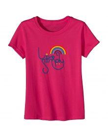 Patagonia- Girl's Live Simply Rainbow T-Shirt