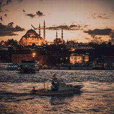Credit to : Golden hour charm ✨ (📷: Beautiful World, Beautiful Places, Istanbul City, Istanbul Travel, Hagia Sophia, City Landscape, Turkey Travel, Paris Skyline, Travel Destinations