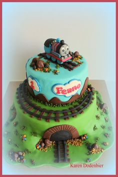 Thomas the Tank Engine!  Cake by dutchcakes