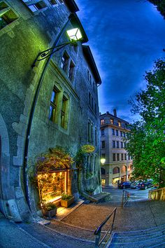 Geneva alley, Switzerland