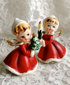 Napco Christmas Angel Girls X6984 by DustofDreams on Etsy, $45.00