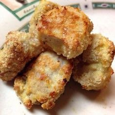 Healthy Chicken Nuggets...made these last night, and mmm they are good, and HEALTHY too. I substituted panko for the almond meal