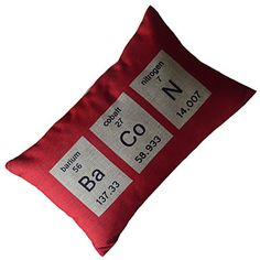 Sciense Words Cotton/Linen Decorative Pillow Cover - USD $ 12.99