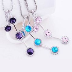 2,97€ crystal flower necklace
