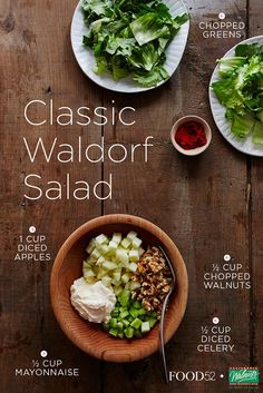 We're re-imagining the most popular salad in New York with help from California Walnuts. Salad Bar, Soup And Salad, Clean Eating, Healthy Eating, Healthy Life, Cooking Recipes, Healthy Recipes, Vegetarian Recipes, How To Make Salad