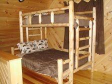 Cedar Log Bunk Beds
