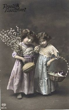 Vintage little girls...how sweet!