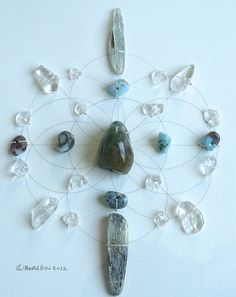 WALL ART Feng Shui Crystal Healing Grid Sacred by CrystalGrids, $199.00