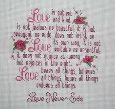 Cross Stitch: Love Is Patient