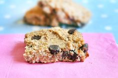 Smart Chocolate Chip Blondies - grain free, vegan.  made from garbanzo beans--yeh, I KNOW!  I've gotta try this one.