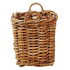 Eco-friendly rattan basket.  Product: BasketConstruction Material: RattanColor: NaturalFeatures: Compostible  Eco-friendly Dimensions:   Small: 19 H x 12 W x 12 D  Medium: 23 H x 16 W x 16 D  Large: 25 H x 21 W x 21 D