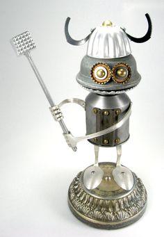 Bork - Robot Sculpture by adoptabot.deviantart.com on @deviantART