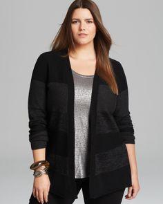 Eileen Fisher Plus Stripe Cardigan - Bloomingdale's Exclusive   Bloomingdale's