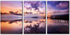 Derwent Dawn Mists - Canvas Prints of Cumbria - LD062-Derwent-Dawn-Mists-Canvas-3-Panel