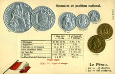 Peru Coinage & Flag World Coins, Flag, Money, Personalized Items, Gazebo, Science, Flags, Silver