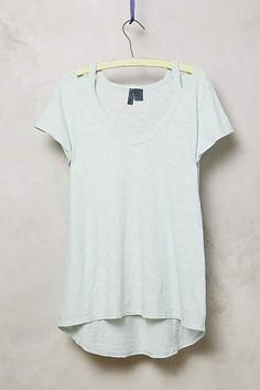 Cut-Out Slub Tee - anthropologie.com