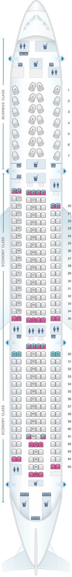 Seat Map Lufthansa Airbus A340 600 281pax | Lufthansa ...