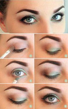 green shadow hooded eyes