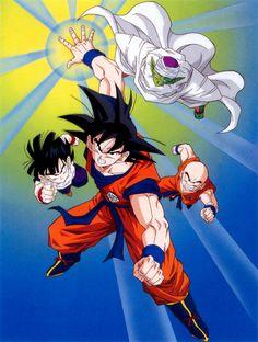 Goku, Gohan, Krillin, and Piccolo