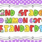 This packet includes everything you need to post the CC standards you are teaching in your classroom. The packet includes 5 different color schemes...