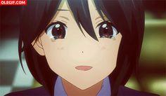 GIF: Chica anime llorando