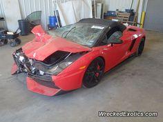 Lamborghini Gallardo LP 570 Spyder Performante crashed in unknown