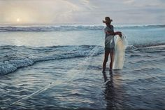 Ken Danby - The Fisherman | From a unique collection of landscape paintings at http://www.1stdibs.com/art/paintings/landscape-paintings/
