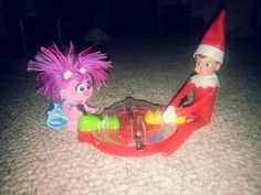 Elf on the Shelf 2013 - Hungry Hungry Hippos V.S Abby from Sesame Street
