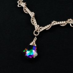 Sterling Silver and Swarovski Crystal Necklace | JewelryLessons.com