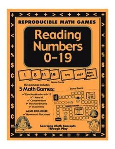 Reading Numbers 0-19 Math Games and Lesson Plans Identifying and reading numbers 0-19 is an essential skill for young learners. With this 25-page math game packet you can develop this skill in your students. Watch as your students learn to effortlessly read numbers 0-19 in standard, word form and written form.