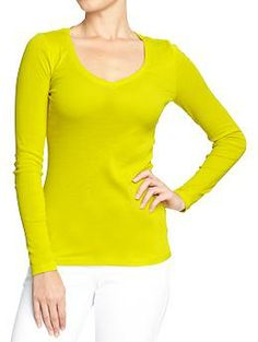 Women's Perfect V-Neck Tees | Old Navy