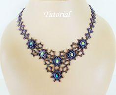 Beading tutorial for beadwoven necklace  par PeyoteBeadArt sur Etsy
