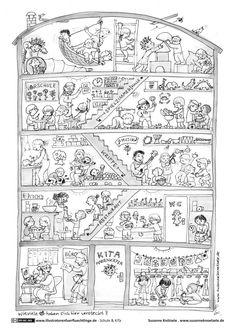garten tiere wimmelbild … | kunst | wimmelbild, kunstunterricht basteln y malvorlagen für kinder